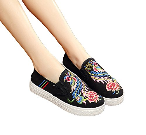 AvaCostume Warbler Embroidery Canvas Sneakers