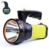 Allflash Searchlight LED Rechargeable Handheld Searchlight Hi High-power Super Bright 9000 MA 6000 LUMENS CREE Tactical Spotlight Torch Lantern Flashlight (Green)