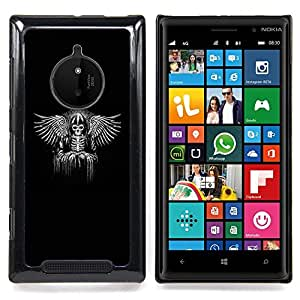 - Viking Black Wings Angel Throne King - - Snap-On Rugged Hard Cover Case Funny HouseFOR Nokia Lumia 830