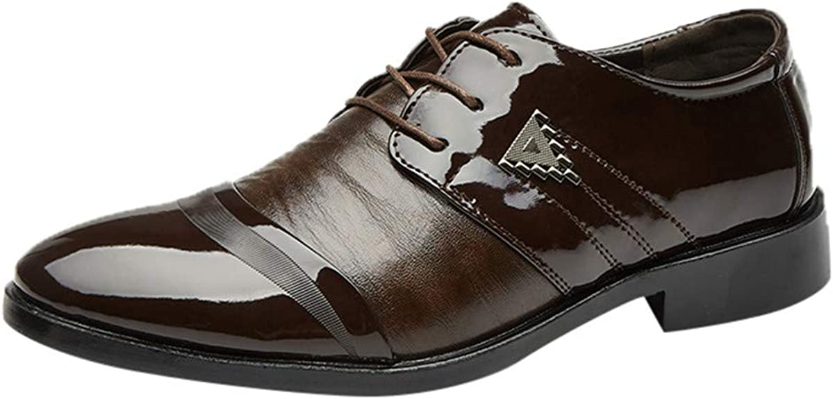 Zzzz HU040 - Zapatos de Piel Brillante con Vestidos de Negocio con ...