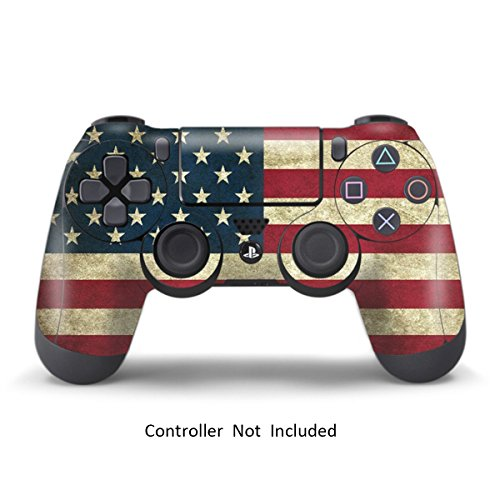 Skins for PS4 Controller - Stickers for Playstation 4 Games - Decals Cover for PS4 Slim Sony Play Station Four Controllers PS4 Pro Accessories PS4 Remote Wireless Dualshock 4 Skin - Battle Stripes