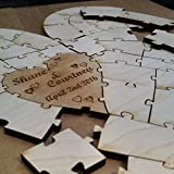 Personalized Heart Shaped Wedding Puzzle Guest Book Alternative (50 Piece)