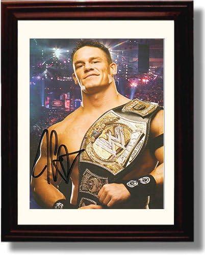 Championship Belt Framed John Cena Autograph Replica Print