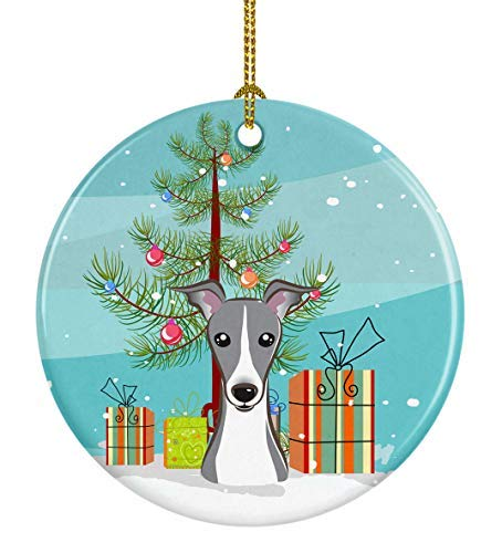 Caroline's Treasures Christmas Tree and Italian Greyhound Ceramic Ornament, ()