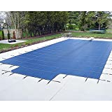 Yard Guard Deck Lock Mesh 16' x 32' + 8' Center Steps Swimming Pool Safety Cover