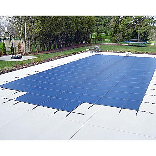 Yard Guard Deck Lock Mesh 16' x 32' + 8' Center Steps Swimming Pool Safety Cover (Mesh Safety Cover)