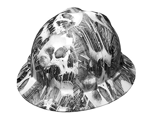 Izzo Graphics Toxic Skull MSA V-Guard Full Brim Hard (Full Graphics Hard Hat)