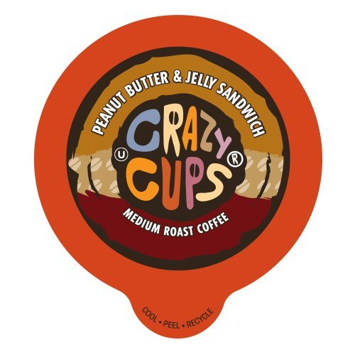 Crazy Cups Peanut Butter And Jelly Sandwich Flavored Coffee Single Serve Cups.. 12