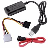 Kingwest SATA/PATA/IDE Drive to USB 2.0 Adapter Converter Cable for 2.5/3.5 Inch Hard Drive