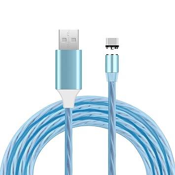 Cable USB-C magnético, Cable de luz Que Fluye del Cargador ...
