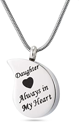 Bullet Memorial Cremation Ash Urn Stainless Steel Pendant Chain Necklace BR