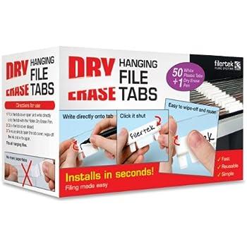 Amazon Com Filertek Hanging File Dry Erase Reusable Tabs