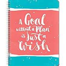 Orange Circle Studio 17-Month 2017 Large Flexi Planner, A Goal without A Plan is Just A Wish (32627)