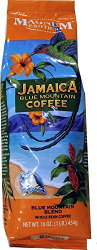 Magnum Exotics Jamaica Blue Mountain Coffee 1lb Blue Mountain Blend Whole Bean