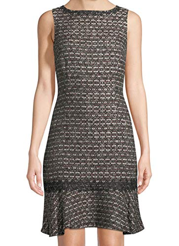 Karl Lagerfeld Women's Tweed Shimmer Sheath Dress Black 14