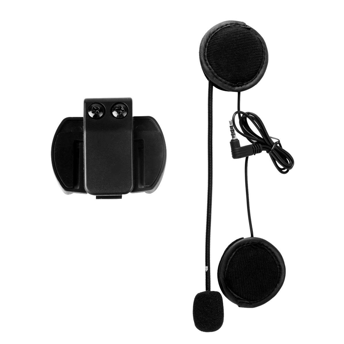 SODIAL Accesorios V6 Micr/ófono Altavoz y Traje S/ólo Clip para V6-1200 Casco Intercom Motorcycle Bluetooth Interphone 3.5Mm Jack Plug