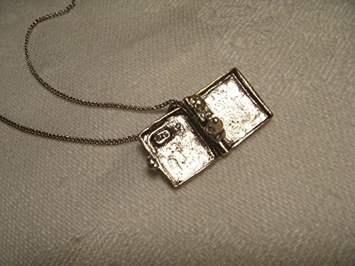 Unique Estate Sterling Silver Holy Bible Book Religious Locket Pendant Charm by GEMSforyou