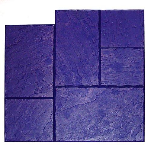 BonWay 32156 36Inch by 36Inch Ashlar Stone Elephant Urethane Floppy Mat for Decorative Concrete Blue