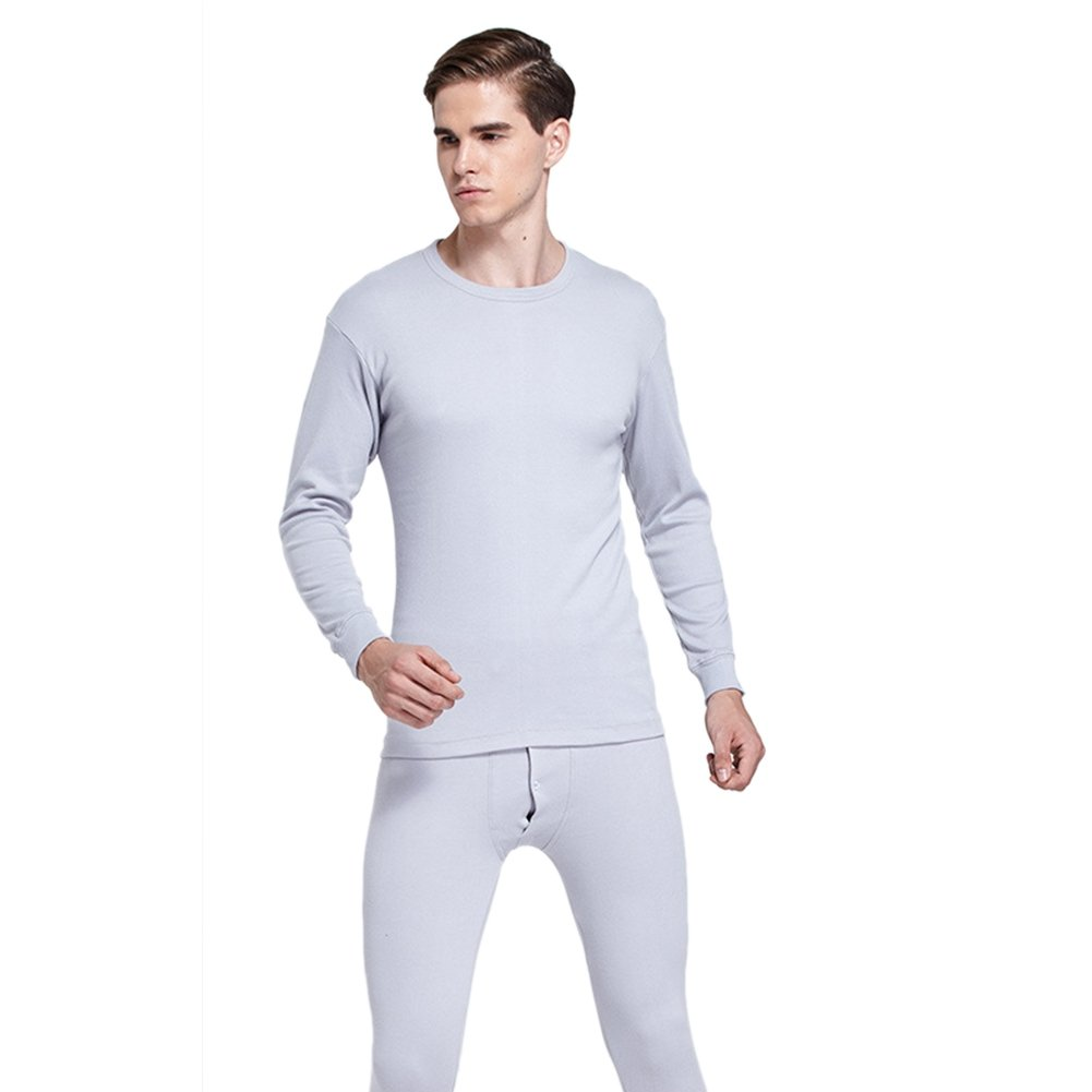 Forart Men's Thermal Underwear Set Long Sleeve Top & Bottom Wicking Long Johns For Winter