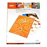 "GBC Laminating Sheets/Pouches, HeatSeal Ultra Clear, Menu Size, 11-1/2""x17-1/2"", 3 Mil, 100 Pack (3200415)"
