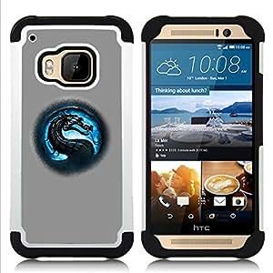 For HTC ONE M9 - MK Dragon Dual Layer caso de Shell HUELGA Impacto pata de cabra con im??genes gr??ficas Steam - Funny Shop -