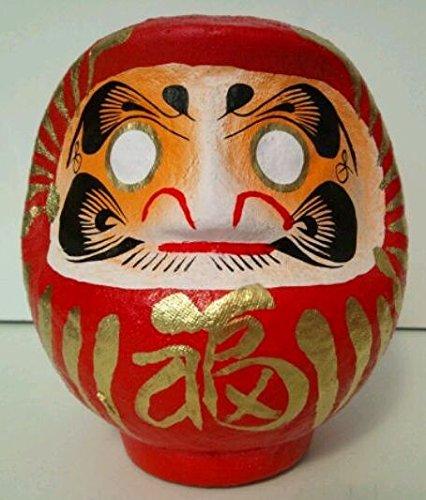 amuleto daruma de japón talismán japonés cabeza papel mache
