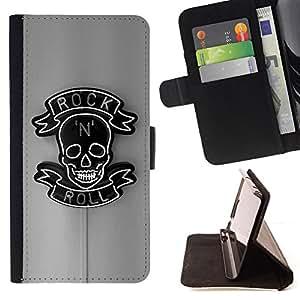 Jordan Colourful Shop - rock roll sign neon bar pub black For Apple Iphone 5 / 5S - < Leather Case Absorci????n cubierta de la caja de alto impacto > -