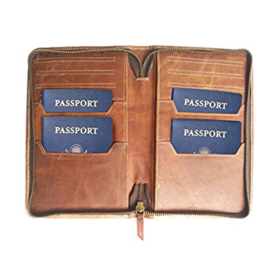 Chalk Factory Genuine Leather Passport Case 50%OFF