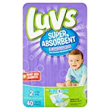 Health & Personal Care : Branded Luvs Super Absorbent Leakguards Diapers, Size 2, 40 Diapers , Weight 12-18lbs - Branded Diapers with fast delivery (Soft and Comfortable for Babies)