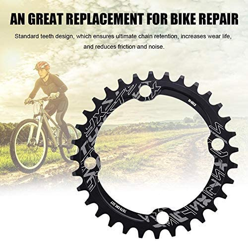 Alomejor Bike Chain Ring 32//34//36//38T BCD 104 Mountain Bike Steel Single Crank Chain Ring Repair Parts For Outdoor Cycling 32T-Red