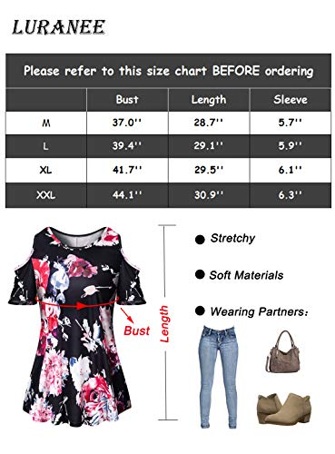 dda46f558e2f1 Luranee Work Shirts for Women, Ladies Dressy Tops Career Blouses Fancy Cold  Shoulder Clothes Fantatic
