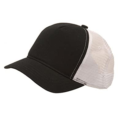 46749f476 Short Bill Trucker Cap-Black White: Amazon.co.uk: Clothing