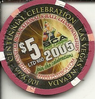 $5 riviera pool players bca 2005 vintage las vegas casino chip centennial celebration