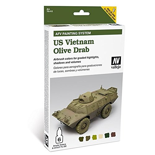 Vietnam Olive Drab (Vallejo Us Vietnam Olive Drab Paint Sys 8ml Paint)