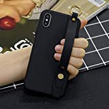 Amocase Soft Silicone Case with 2 in 1 Stylus for Samsung Galaxy S9 Plus,Cute Sweet Candy Color Wrist Strap Stand Shockproof Anti-Scratch Flexible Case - Black
