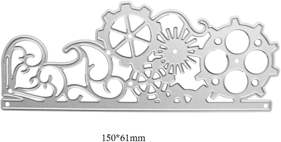 DIY Scrapbooking Gear Wheel Metal Cutting Dies Stencil Embossing Crafts Decor