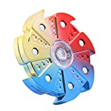 DSSY New Style Round Fidget Hand Toy Fingertip Spinner Stress Relief Anxiety Relief Toy Camo Color (Multicolor 07)