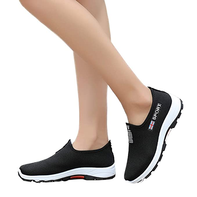 3cef3a34e998 Womens Sneakers Running Hiking Sport Shoes Casual Slip-On Mesh Breathable  Soft Sole Shoes Comfortable