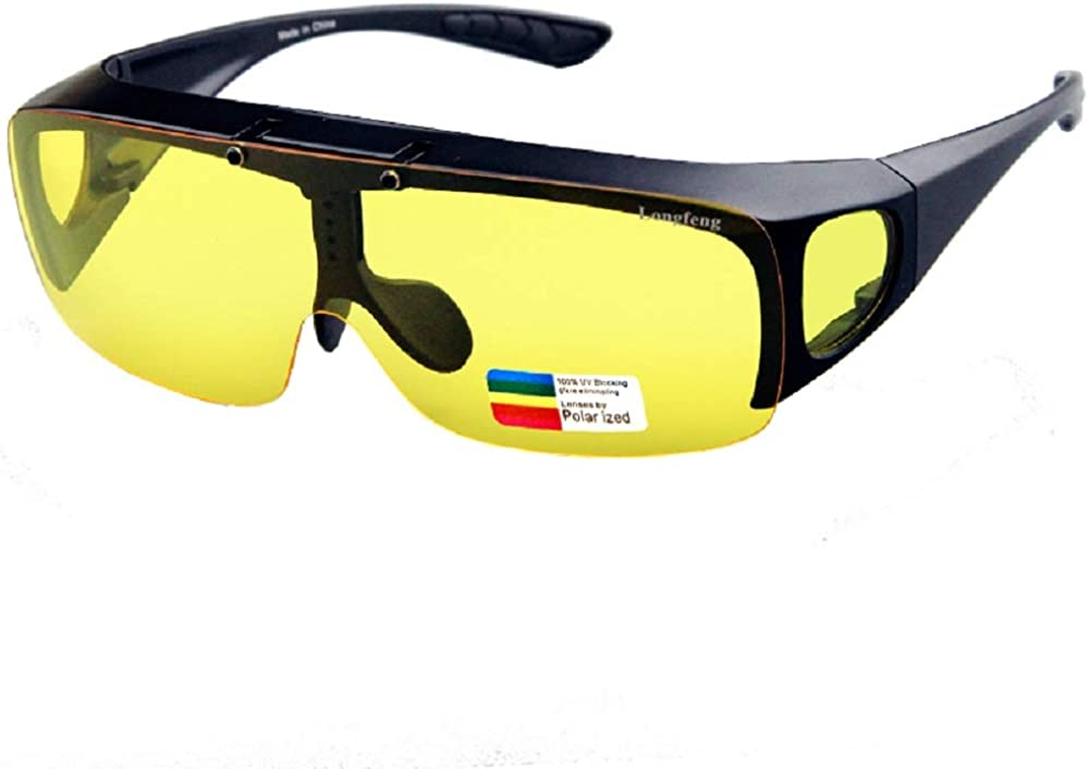 Suitable for Ordinary Prescription Glasses with Polarized Lenses wrap-Around Oversized flip Night Vision Glasses