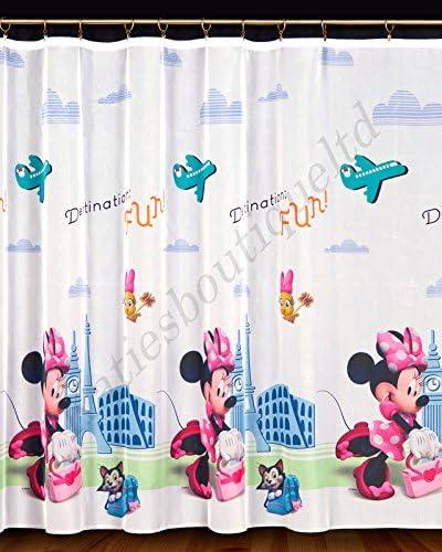 Minnie Pink 150cm x 150cm 59 x 59 Beautiful ni/ños Kids gasa listo para cortinas