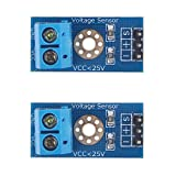 Diymall Voltage Sensor Dc0-25v for Arduino with Code(pack of 2pcs)