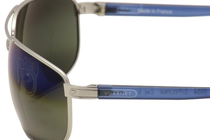Amazon.com: Vuarnet vl1507 VL/1507 0004 1140 plata/azul ...