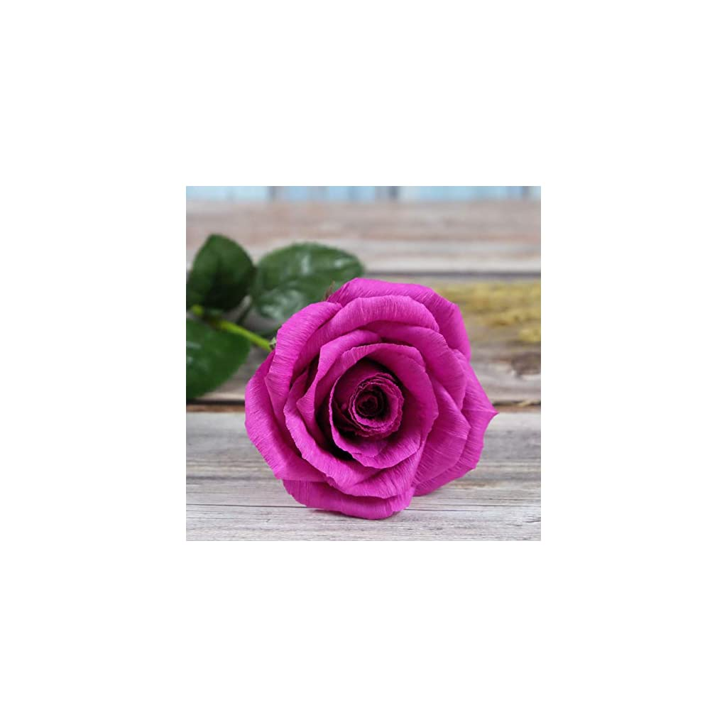 Fuschia-Paper-Rose-Handmade-Realistic-Artificial-Flowers-for-Christmas-First-Year-Anniversary-Wedding-Valentine-Day-Mothers-Day-Gift-For-Her-01-Single-Long-Stem-Hot-Pink