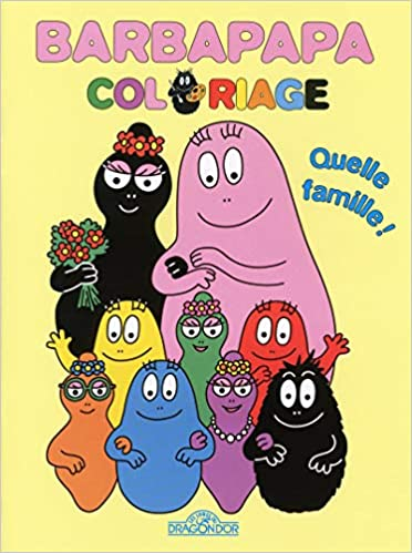 Coloriage Famille Barbapapa.Barbapapa Coloriage Quelle Famille Amazon Fr Annette Tison