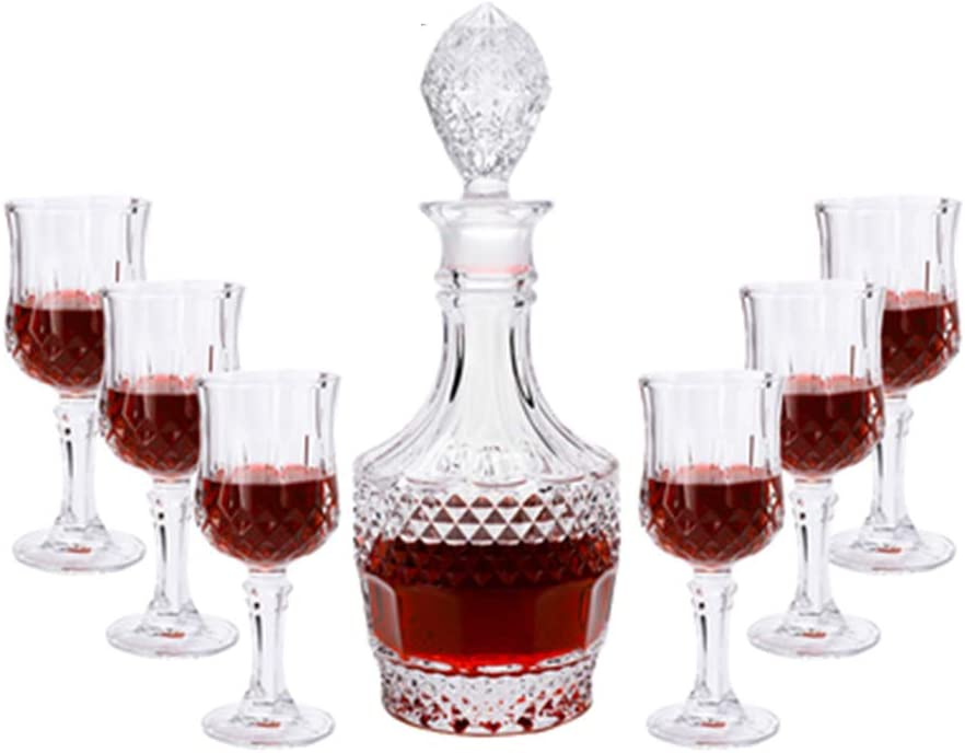 Decantadores Set 6 Pack Cristal De Vino Alto Vaso De Vino Tinto Vaso De Vino Conjunto Vino De Regalo (Color : Clear, Size : 32 * 6cm): Amazon.es: Hogar