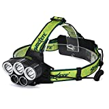 Leegor 25000 Lumens 5 Lights Zoomable LED Headlamp Rechargeable Headlight Travel Head Torch Adjustable Waterproofing Head Light (Battery and Charger Not Included)