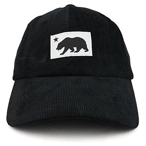 Trendy Apparel Shop California Bear Patch Embroidered Cotton Corduroy Baseball Cap - ()