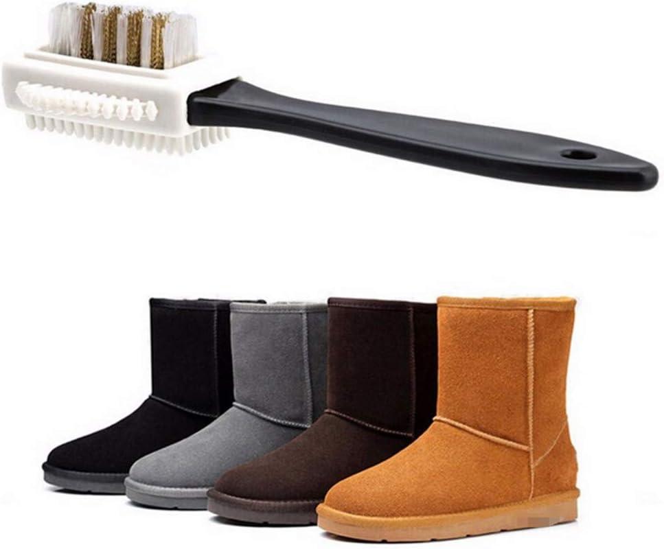 Wilk Durable Chaussures Accessoires Multi-usages v/êtements en Caoutchouc Durable Suede Brush Boot Cleaner Chaussures /à Trois c/ôt/és Brosse de Nettoyage Salle de Bains Gadget