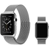 Ally Apple Watch İçin 1,2,3 38mm Metal Kayış Milano Loop GRİ