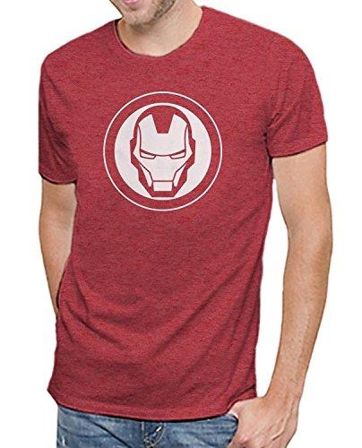 Marvel Comics Avengers Iron Man Logo Men's Soft Red Heather T-shirt M